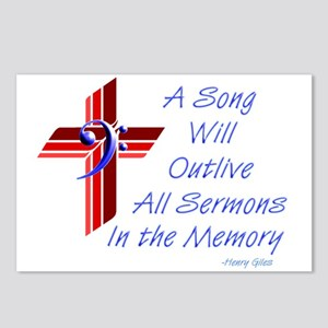 Song/Sermon Bass Clef Postcards (Package of 8)