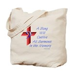 Song/Sermon Bass Clef Tote Bag