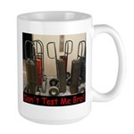'Don't Test Me Bro!!' - Large Mug (Left Hand)