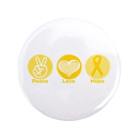 """Peace Yel Hope 3.5"""" Button"""