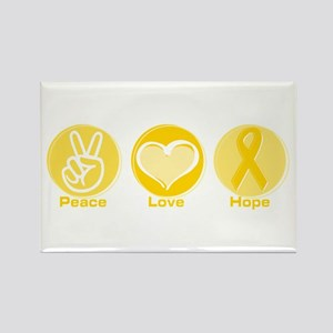 Peace Yel Hope Rectangle Magnet