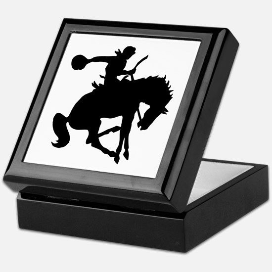 Bucking Bronc Cowboy Keepsake Box