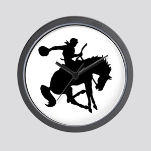 Bucking Bronc Cowboy Wall Clock