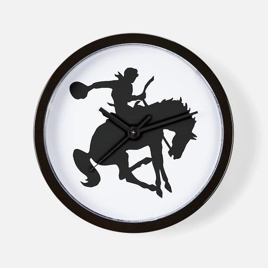Bucking Bronc Cowboy Wall Clock