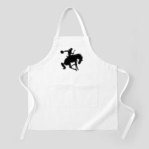 Bucking Bronc Cowboy BBQ Apron