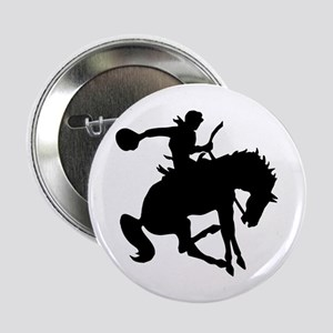 "Bucking Bronc Cowboy 2.25"" Button"