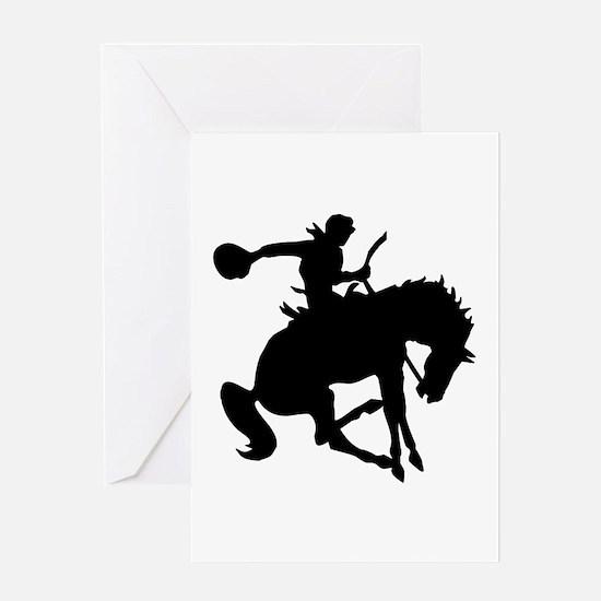 Bucking Bronc Cowboy Greeting Card