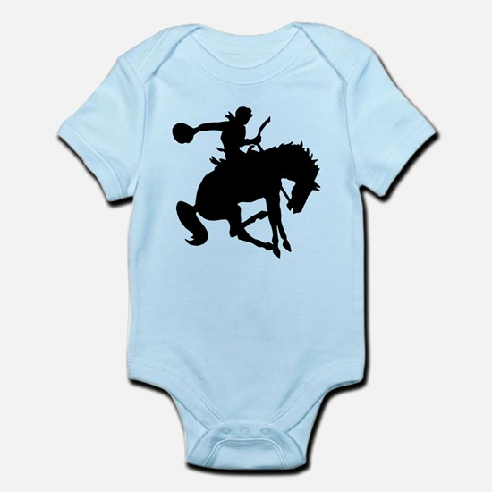 Bucking Bronc Cowboy Infant Bodysuit