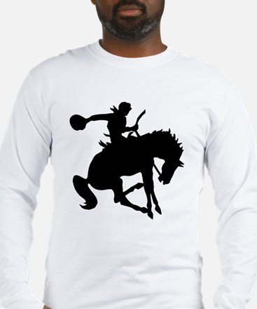 Bucking Bronc Cowboy Long Sleeve T-Shirt