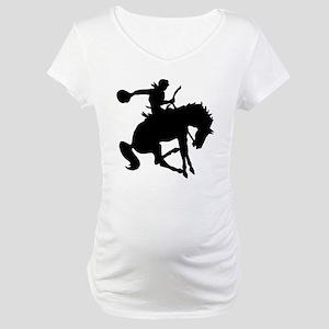 Bucking Bronc Cowboy Maternity T-Shirt
