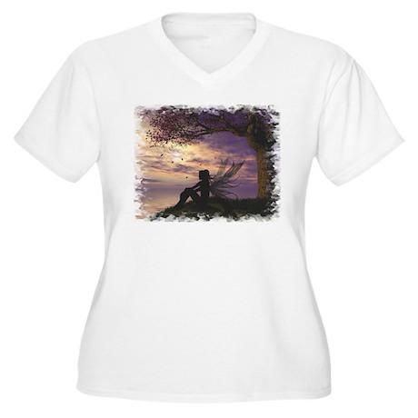 The Dreamer Women's Plus Size V-Neck T-Shirt