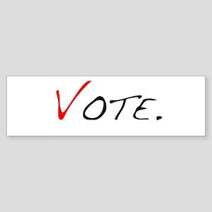 Vote. Bumper Sticker