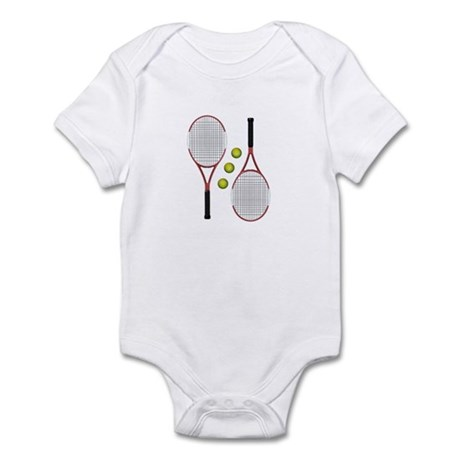 Mirrored Tennis Racquets Infant Creeper