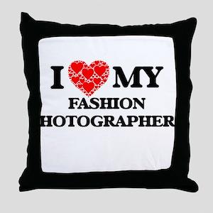 I Love my Fashion Photographer Throw Pillow