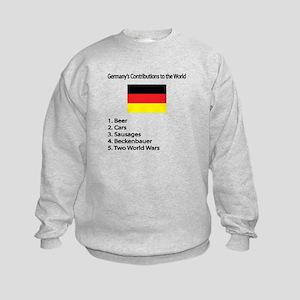 "Whooligan Germany ""Contributions"" Kids Sweatshirt"