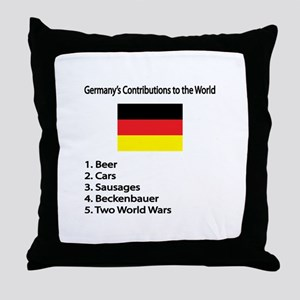 "Whooligan Germany ""Contributions"" Throw Pillow"
