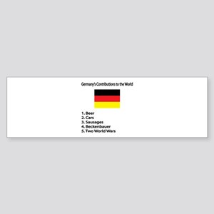 "Whooligan Germany ""Contributions"" Bumper Sticker"
