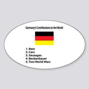 """Whooligan Germany """"Contributions"""" Oval Sticker"""