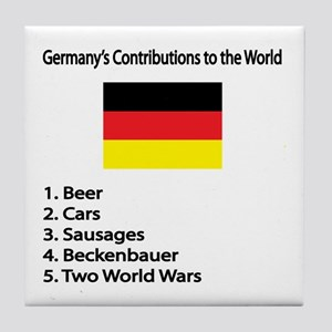 "Whooligan Germany ""Contributions"" Tile Coaster"