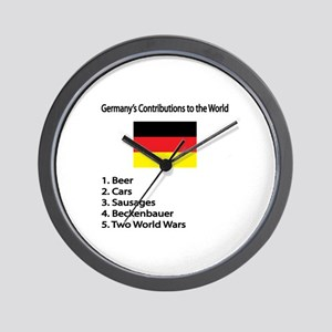 """Whooligan Germany """"Contributions"""" Wall Clock"""