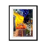 Cafe / Nor Elkhound Framed Panel Print