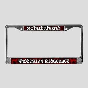 Schutzhund Rhodesian Ridgeback License Plate Frame