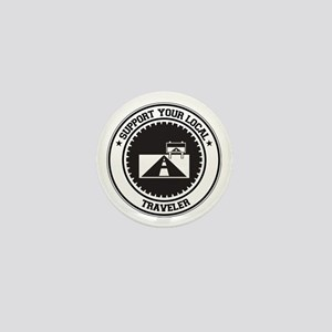 Support Traveler Mini Button