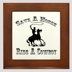 Ride A Cowboy Framed Tile