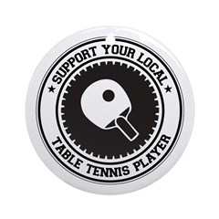 Support Table Tennis Player Ornament (Round)