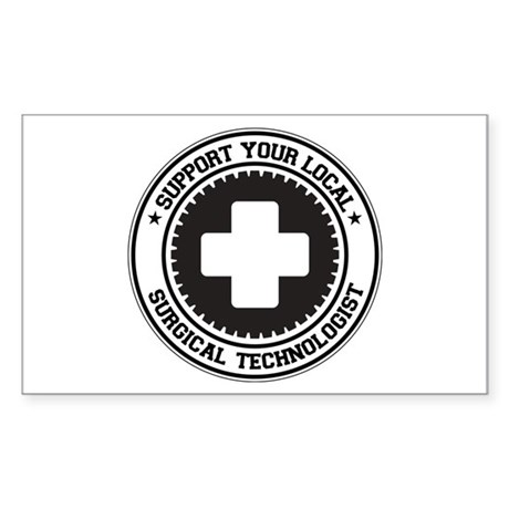 Support Surgical Technologist Rectangle Sticker
