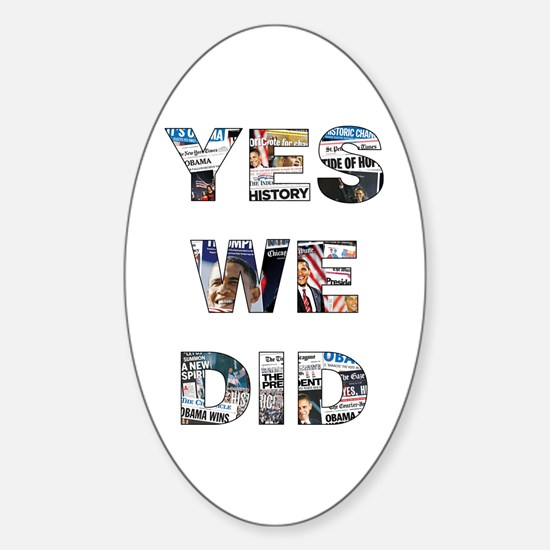 Obama Victory Around the World Oval Decal