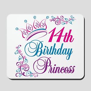 14th Birthday Princess Mousepad