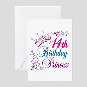 14th Birthday Princess Greeting Card