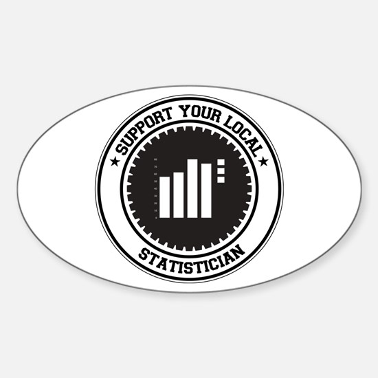 Support Statistician Oval Decal