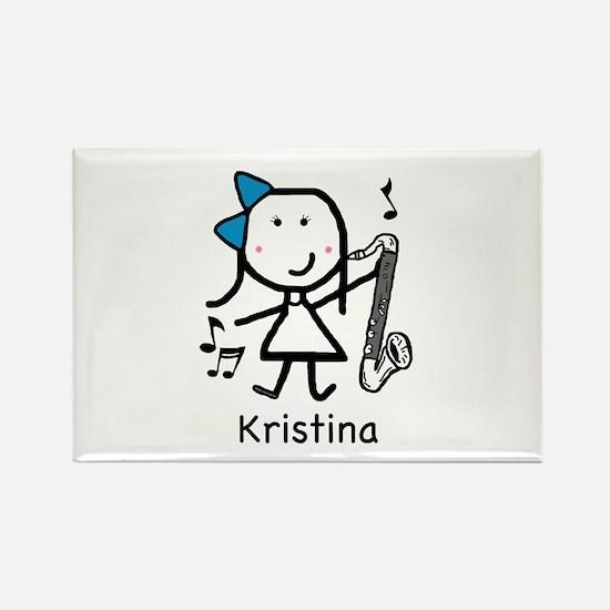 Bass Clarinet - Kristina Rectangle Magnet