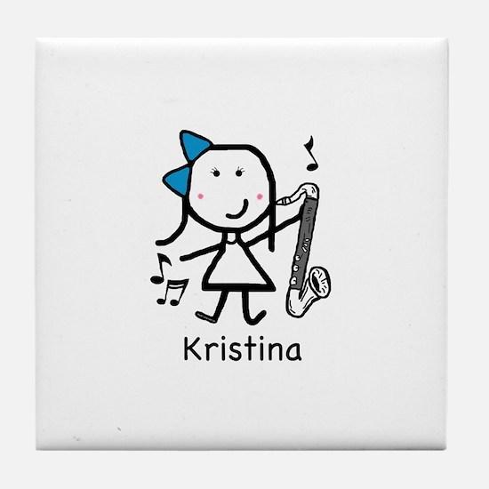 Bass Clarinet - Kristina Tile Coaster
