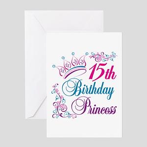 15th Birthday Princess Greeting Card