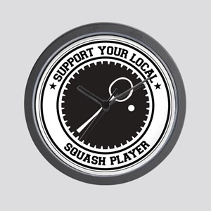 Support Squash Player Wall Clock
