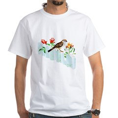 Chipping Sparrow White T-Shirt