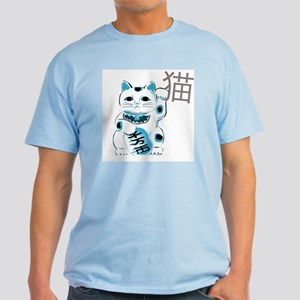 Mint Maneki Neko Ash Grey T-Shirt