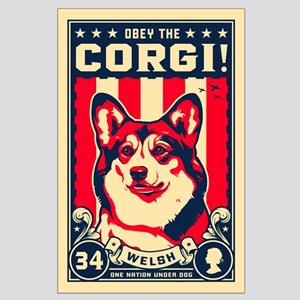 Obey the Corgi! Large Propaganda Poster