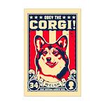 Obey the CORGI! Mini Poster Print