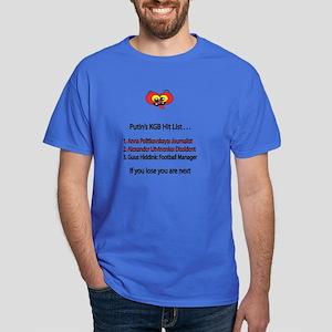 """Whooligan Russia """"Putin Hit List"""" Dark T-Shirt"""