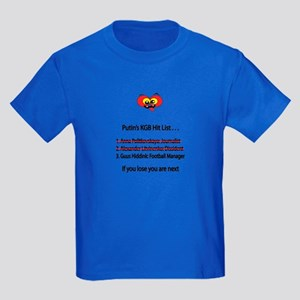 "Whooligan Russia ""Putin Hit List"" Kids Dark T-Shir"
