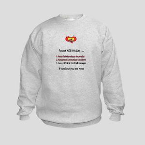 "Whooligan Russia ""Putin Hit List"" Kids Sweatshirt"
