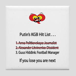 """Whooligan Russia """"Putin Hit List"""" Tile Coaster"""