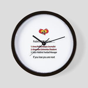 """Whooligan Russia """"Putin Hit List"""" Wall Clock"""