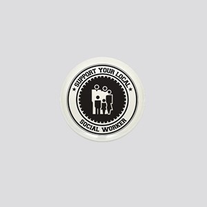 Support Social Worker Mini Button