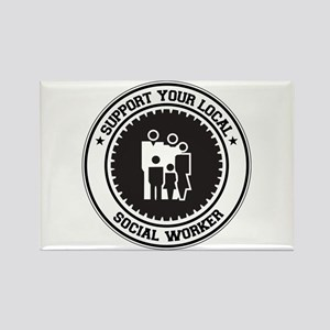 Support Social Worker Rectangle Magnet