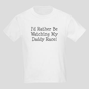 Watch My Daddy Race Kids Light T-Shirt